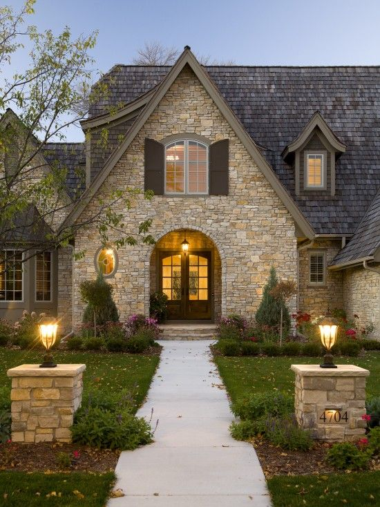 Stone House :) Traditional Exterior Design, Pictures, Remodel, Decor And  Ideas
