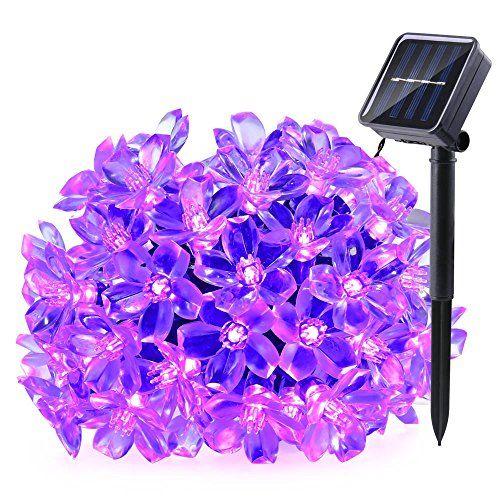Qedertek Solar Halloween String Lights, 21ft 50 LED Fairy Blossom