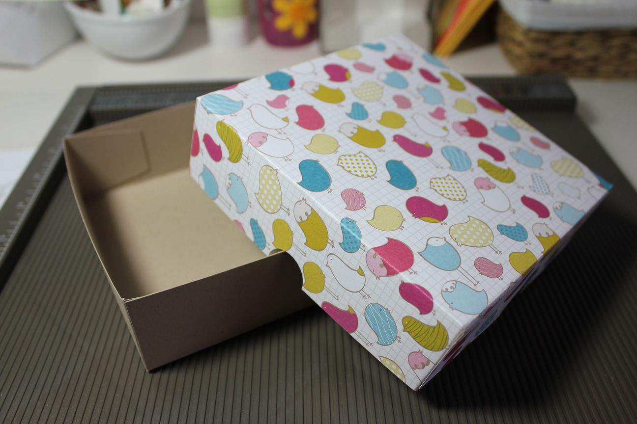 Geschenkbox verpackung basteln