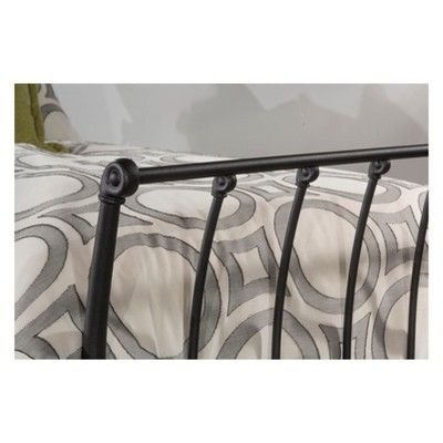 Midland Metal Backless Daybed Twin Black Sparkle - Hillsdale
