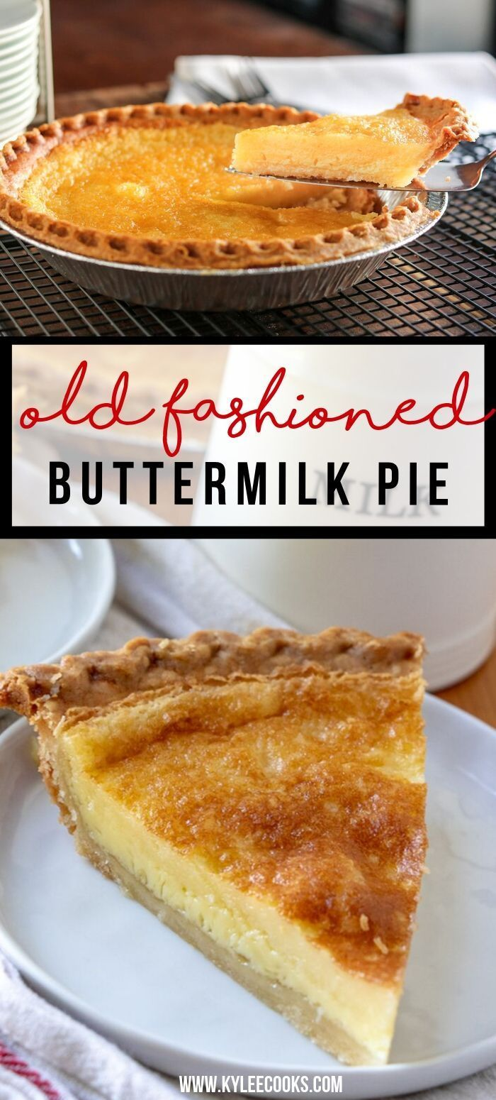 This Traditionally Southern Buttermilk Pie Is Simple To Make And Pleases The Whole Family A Flaky Buttermilk Pie Buttermilk Pie Recipe Southern Buttermilk Pie