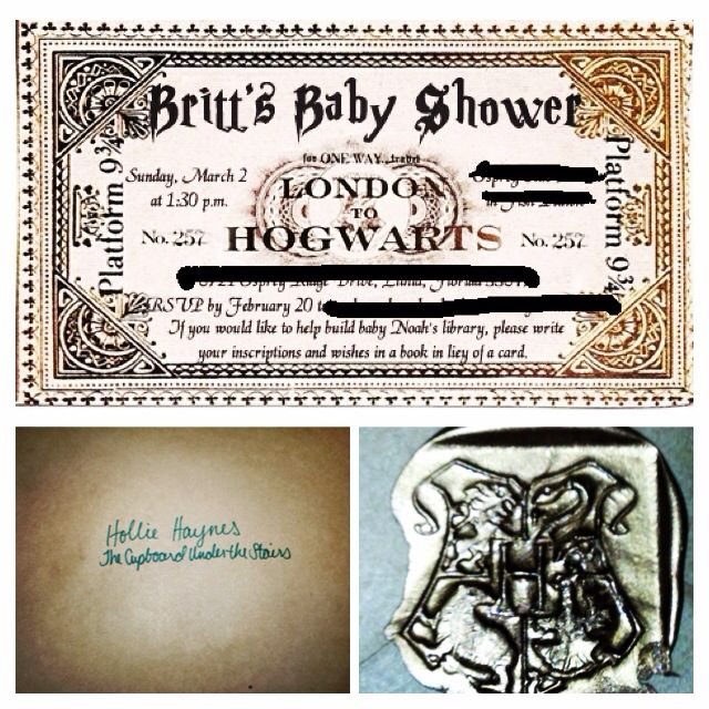 Harry Potter Baby Shower: Harry Potter Baby Shower Invitations