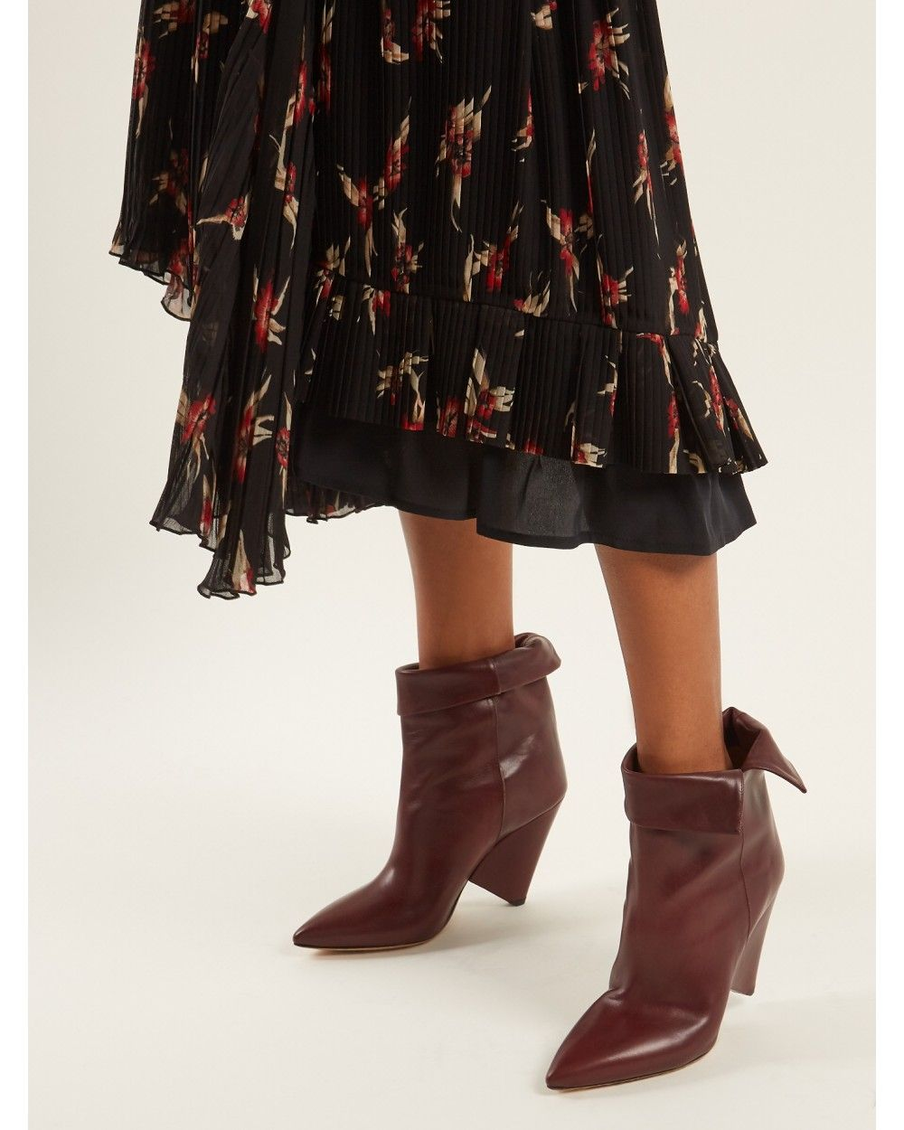 05917aa4d6c Isabel Marant Luliana Leather Ankle Boots Burgundy - Isabel Marant  #ISABELMARANT #fashion #women #fashionshoes #shoes #lifestyle #gifts  #womenfashion