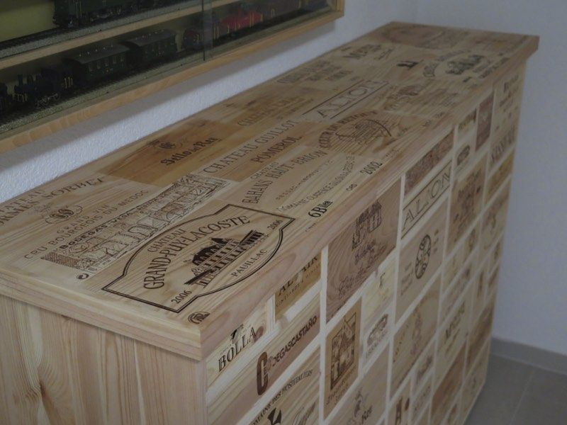 gebrauchte weinkisten schubladenm bel sideboard pinterest m bel kiste. Black Bedroom Furniture Sets. Home Design Ideas