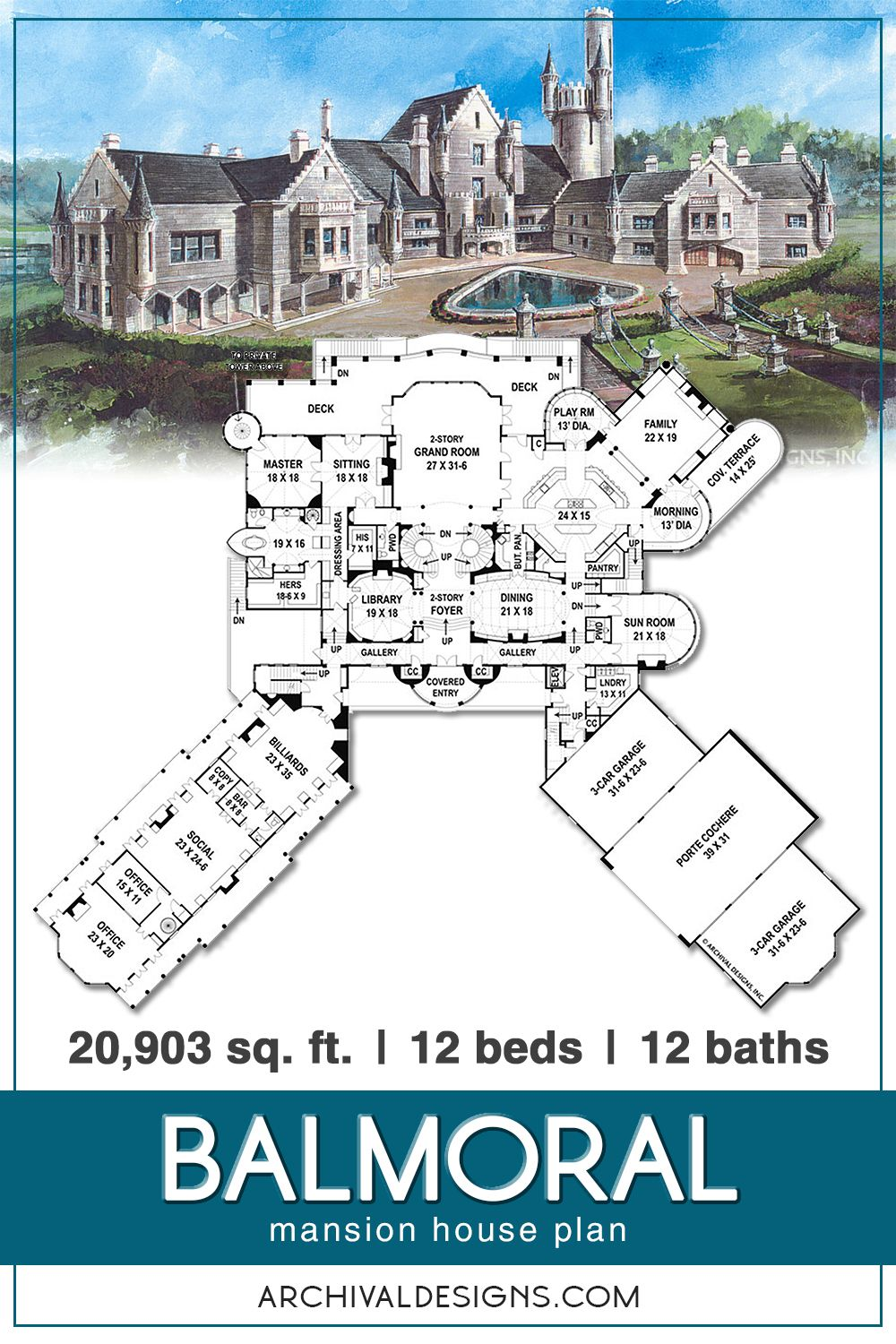 Balmoral House Plan In 2020 Castle House Plans House Plans Mansion Castle Floor Plan