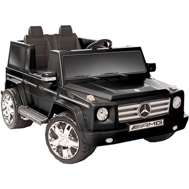 Mercedes Benz Toy Car Vehicle Ride On Two Seater 12v G55 Amg Play Game Kids Mercedesbenz Black Mercedes Benz Mercedes G55 Mercedes Benz