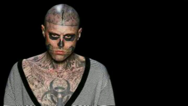 Zombie Boy Rick Genest Anatomy Tattoo Full Body Ink Skeleton