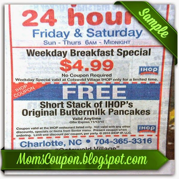Free Printable Coupons 2015 Free Printable Ihop Coupons Sources Ihop Coupon Ihop Free Printable Coupons