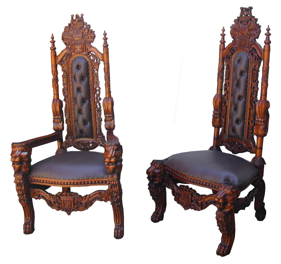 Best Gothic Chairs Carved Huge Carved Gothic King Lion Dining 400 x 300