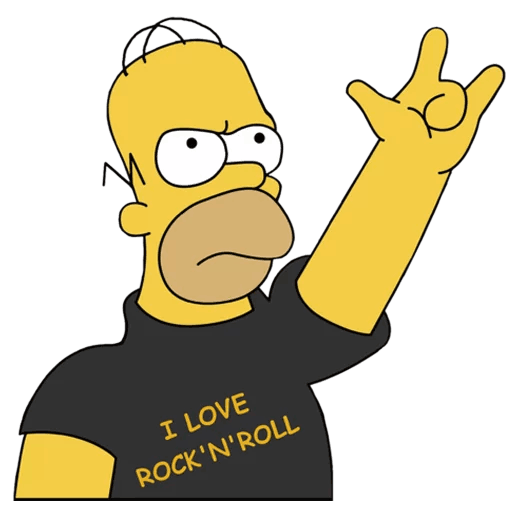 Homer Simpson I Love Rock And Roll Sticker Homer Simpson Simpsons Cartoon Simpsons Art