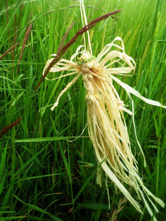 Barley Faerie / Fairy.  Handmade Lammas Corn dolly.