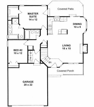 Plan 1075 ranch style very popular small house plan for Very small cottage house plans