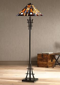 Asian Table Lamps Robert Louis Tiffany Jewel Tone Art Glass Floor Lamp  Shopping For