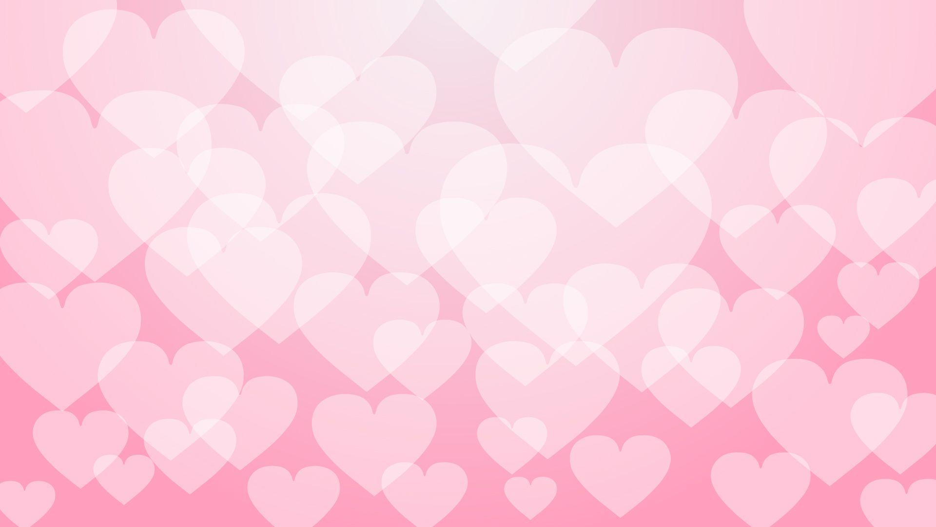 ハートマーク 恋 桃色系 Love イラスト 壁紙 背景 イメージ 綺麗な