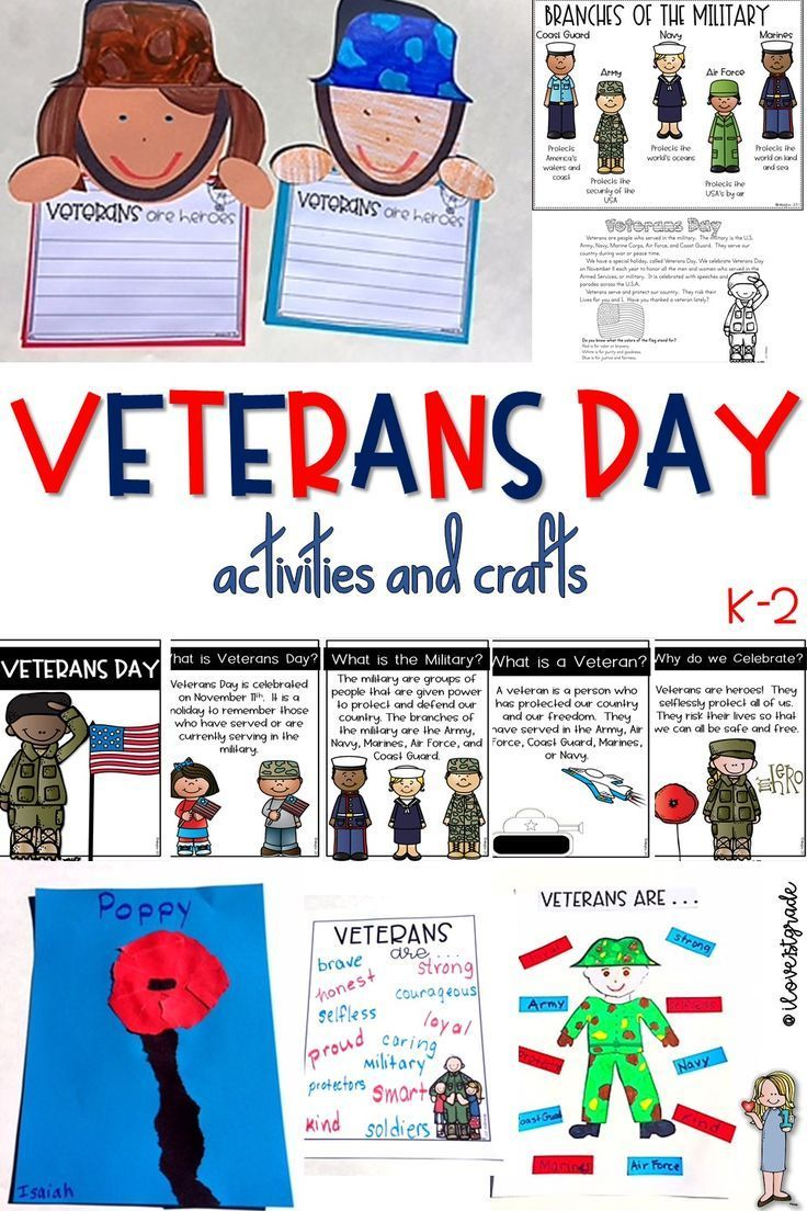 Veterans Day Activities and Crafts Veterans day
