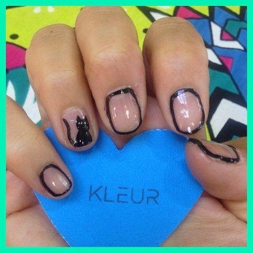 Kleur A Kitty For J Heart The Catwoman Nail Art Pinterest