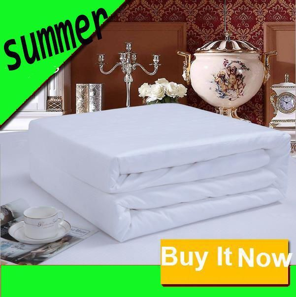 Summer %100 Silk Weight 0.5Kg-1Kg White Duvet Quilt Cotton Cover Single To King