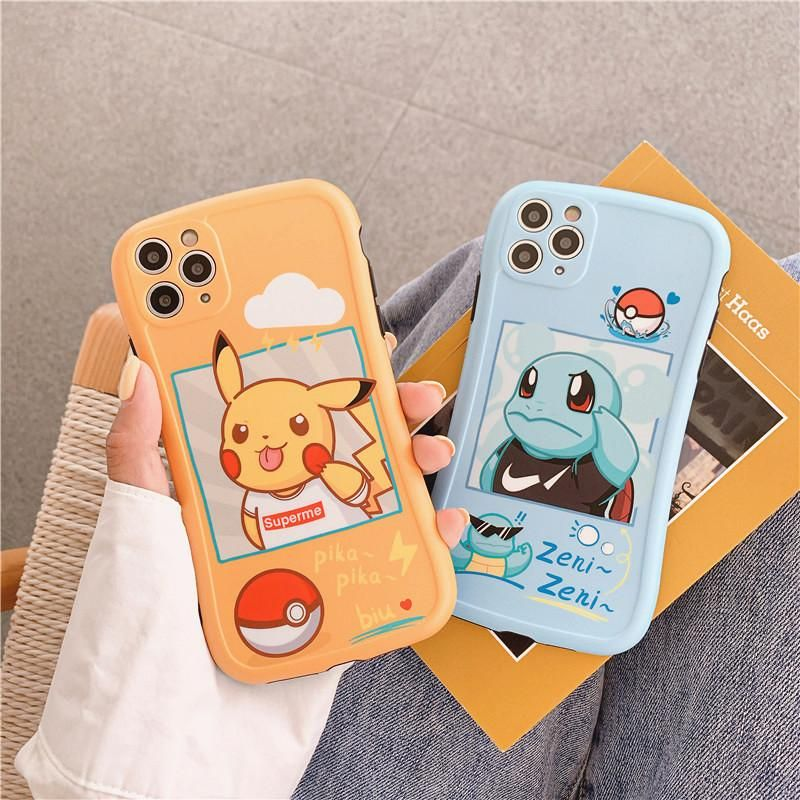 Cartoon pikachu phone case for iphone 77plus88pxxsxr