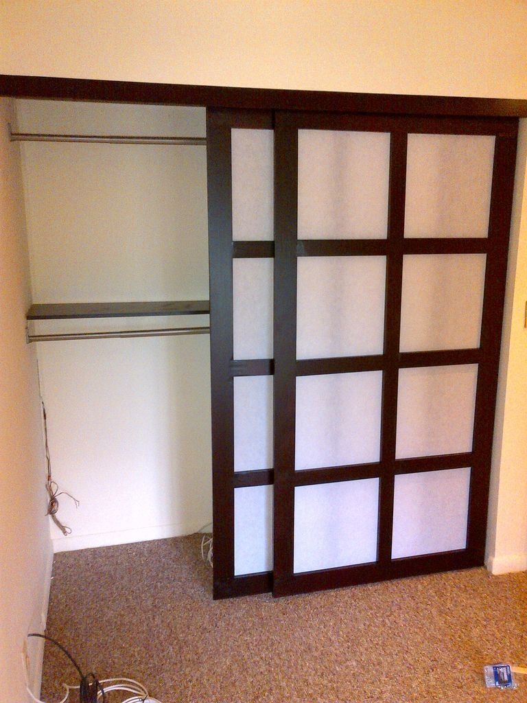 Shoji Style Sliding Closet Doors From Scratch 7 Steps Intended For
