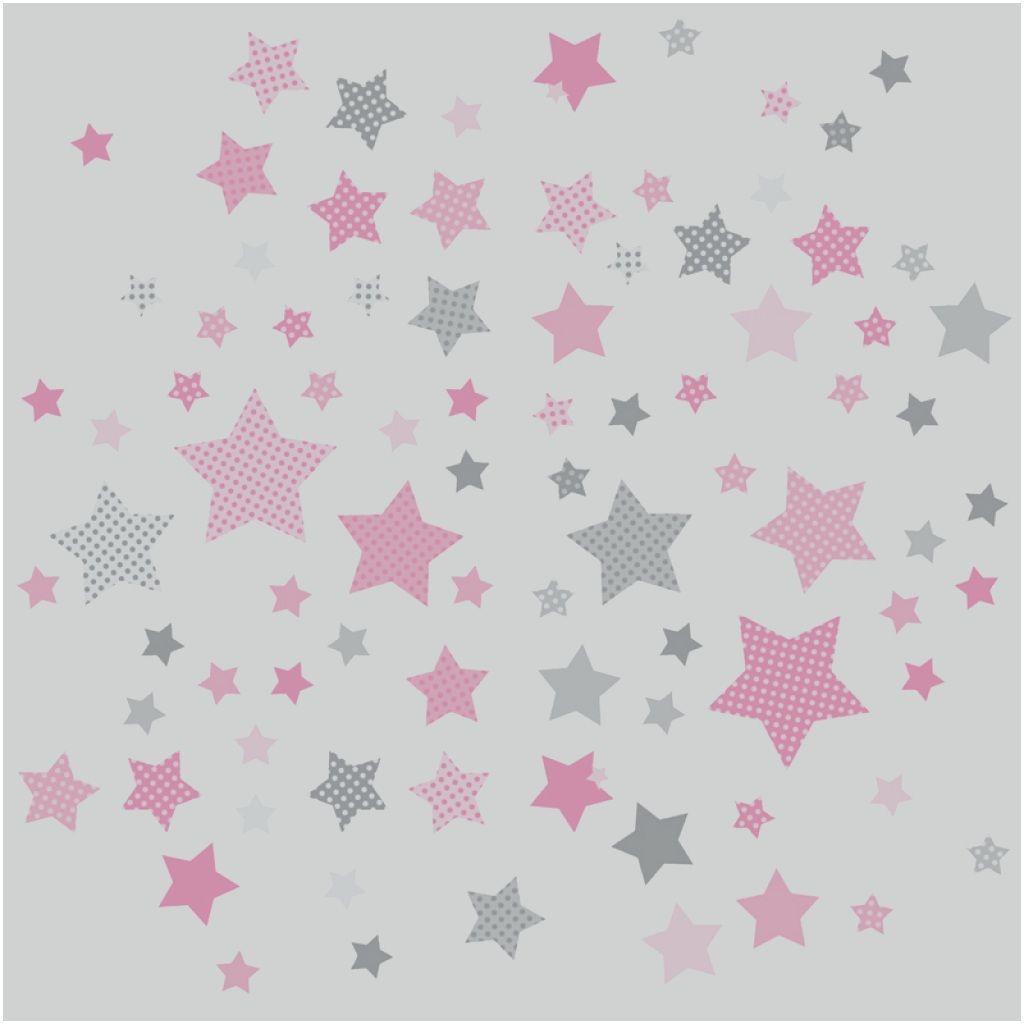15 Kinderzimmer grau rosa sterne