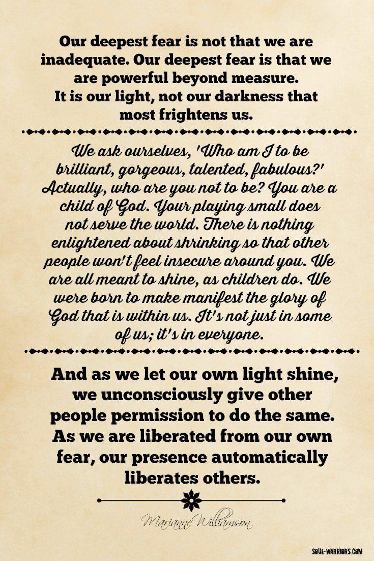 Quotes Poems Quotes Marianne Williamson Quote Life Quotes