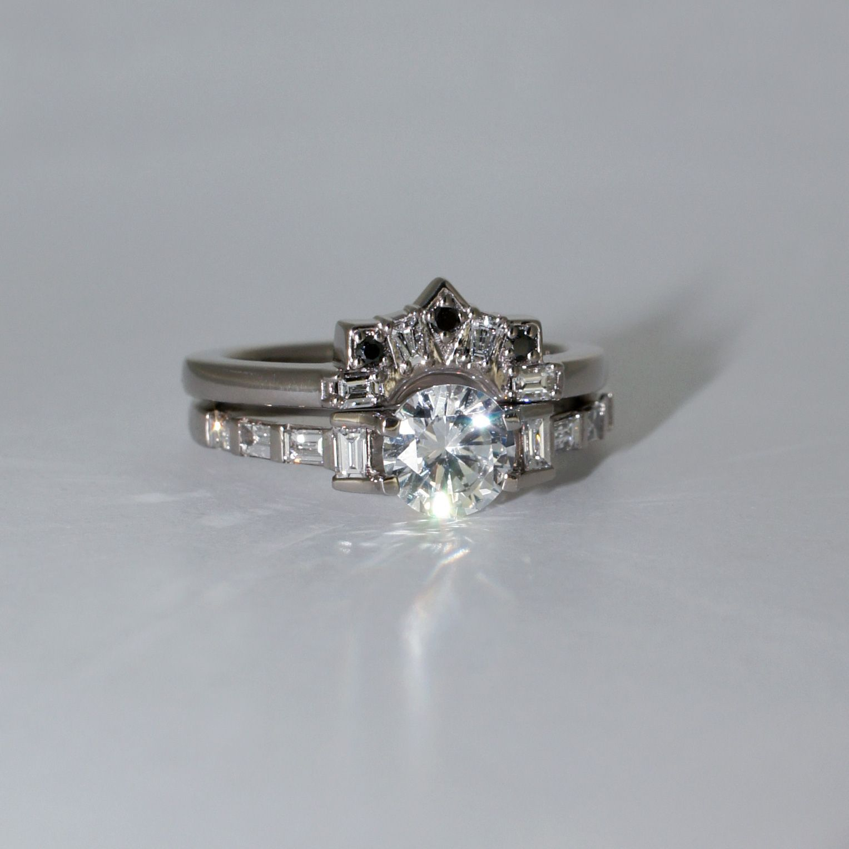 Custom wedding ring by Sydney jewellery designer Lizunova
