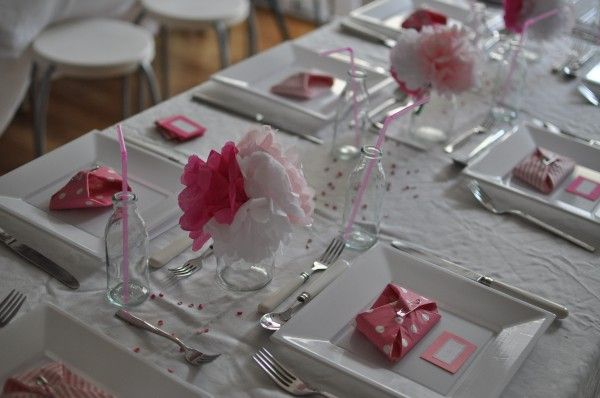 Marvelous Pink Table Settings Pinterest | Silent Sunday From The Land Of Pink ·  Classy Baby ShowerPink ...