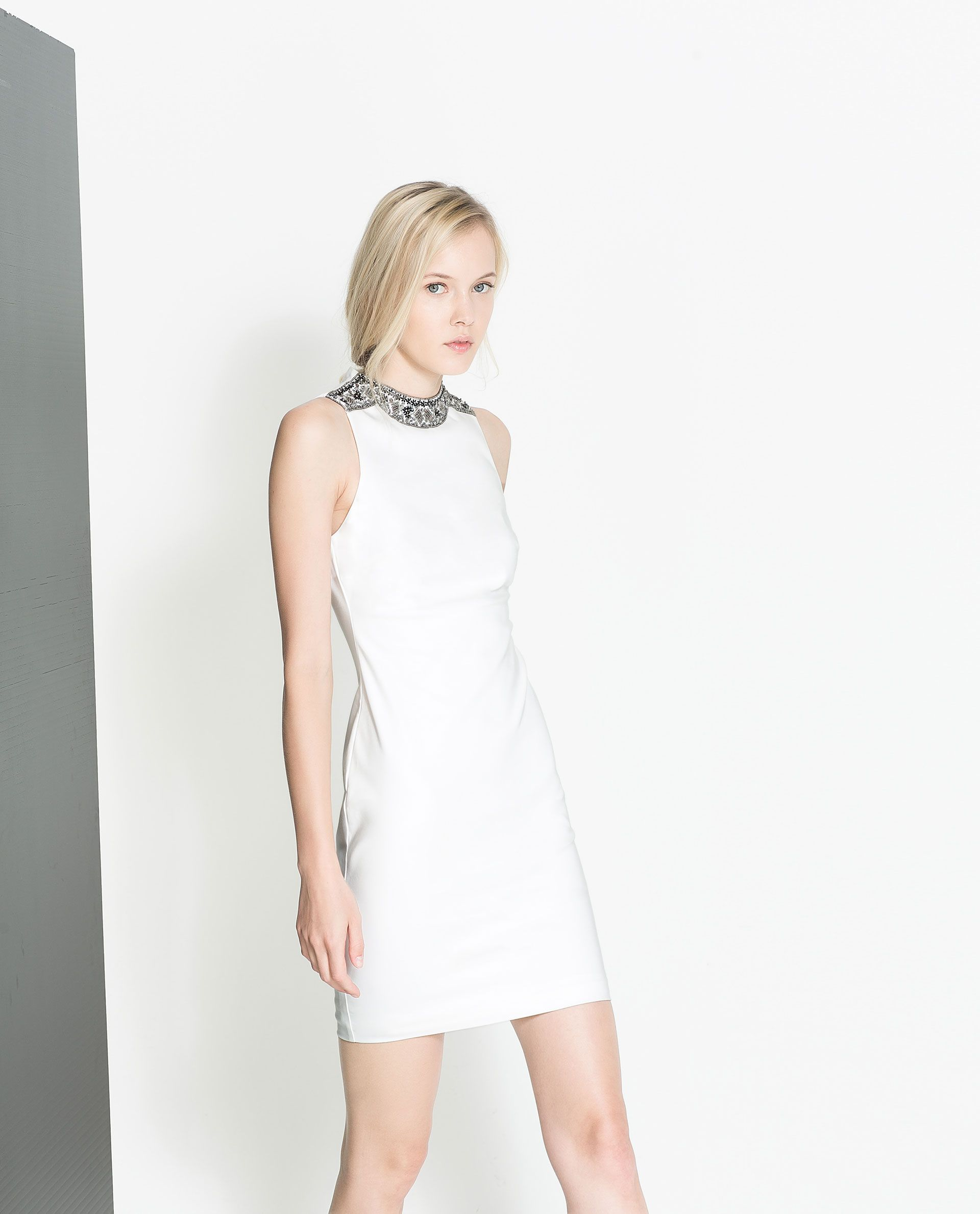 White dress at zara - Dress With Appliqu S From Zara