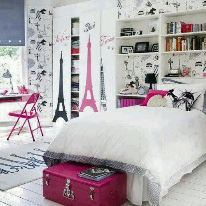 Best Room Ever Paris And New York Rooms With A Theme Of Cities Fabulous P Diy Girls Bedroom Girl Bedroom Decor Bedroom Diy
