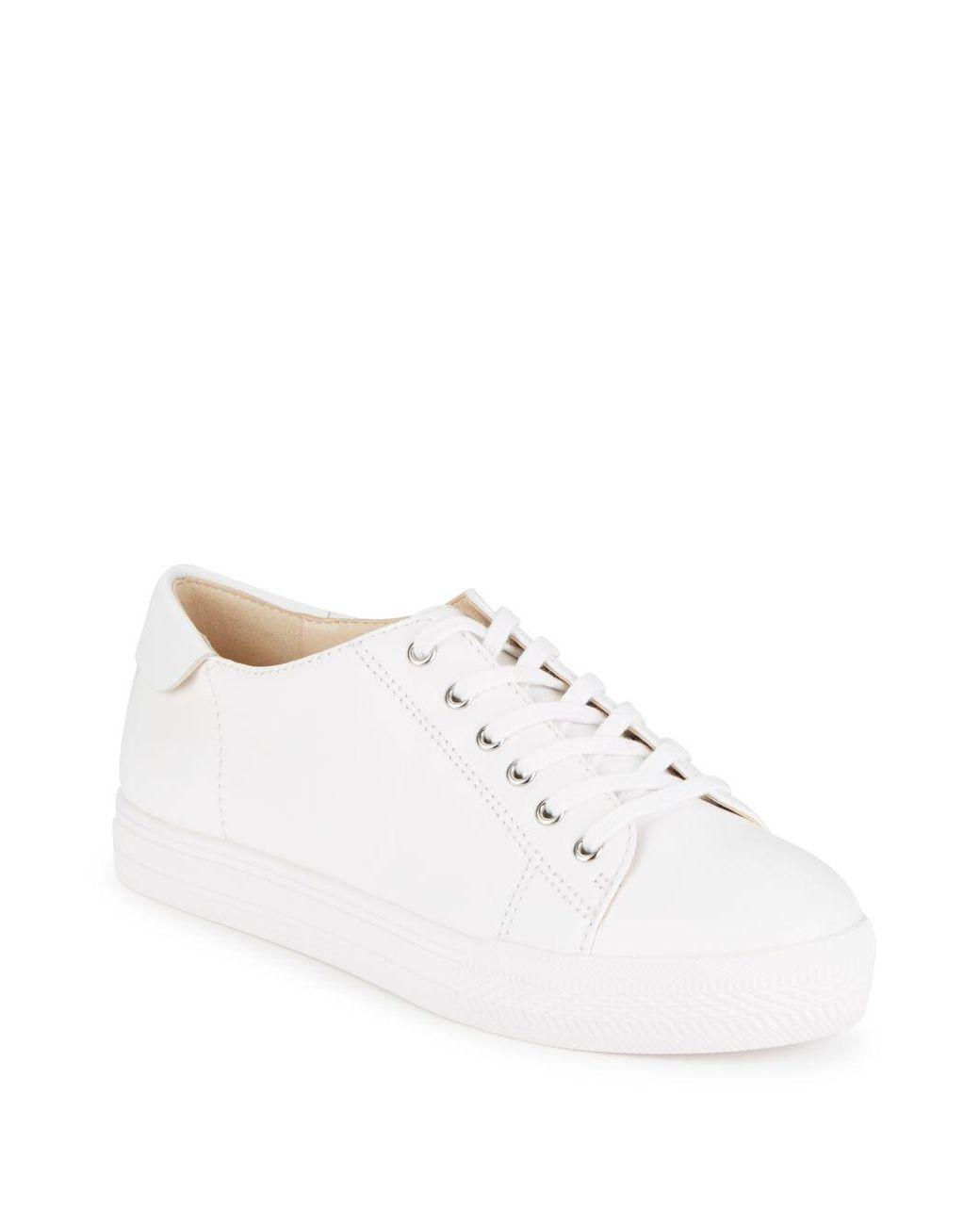 ba58c527 Women's White Patrick Leather Platform Sneakers | Fashion needs [ok ...