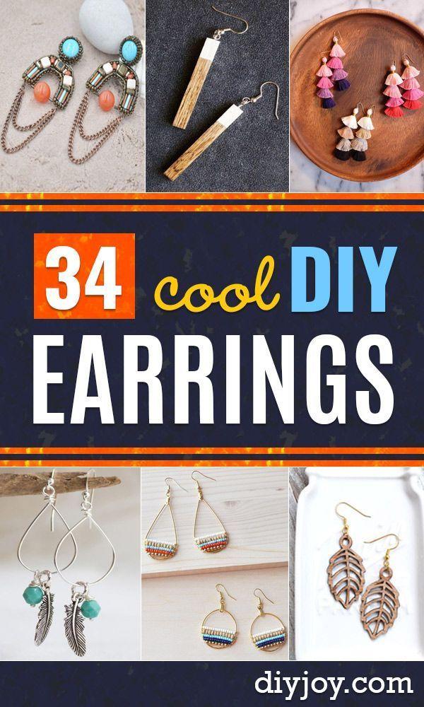 DIY Ohrringe – Einfache Ohrring Projekte für Ohrstecker, baumeln, Creolen, Quas…