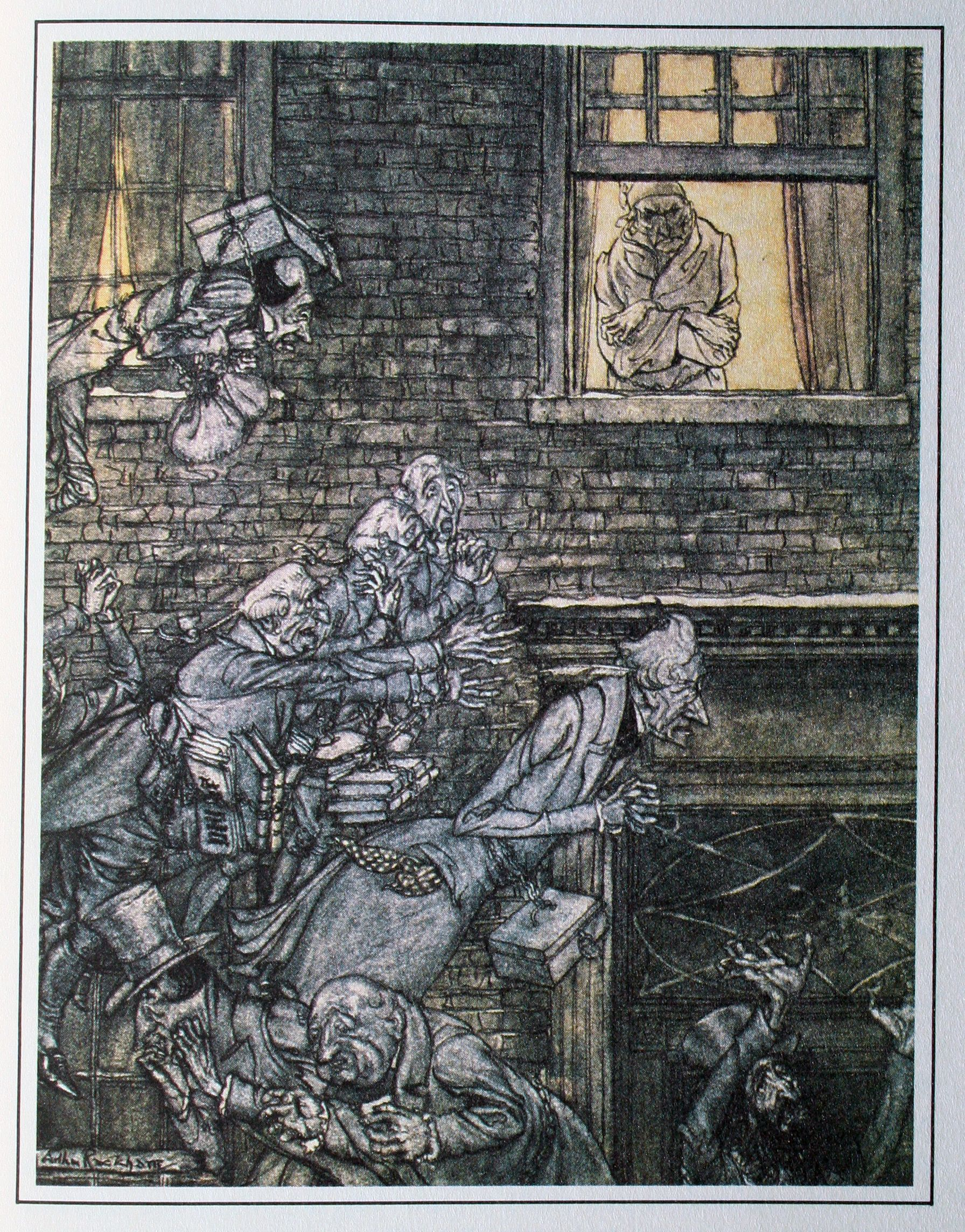 Arthur Rackham S Christmas Carol 5 The Air Was Filled With Phantoms Wandering Hither And Thither Christmas Carol Arthur Rackham Charles Dickens Christmas