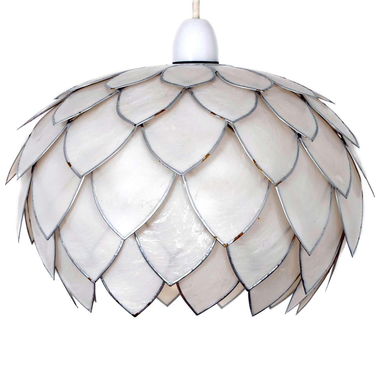 White artichoke capiz pendant dunelm house pinterest lamp white artichoke capiz pendant dunelm mozeypictures Gallery