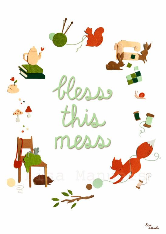 Lisa Manuels' illustration 'Bless This Mess' ♥ Loved by www.miekinvorm.nl || illustration + design