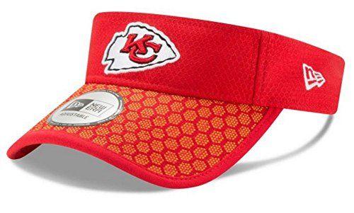0778aeaa3 New Era 2017 NFL Sideline Kansas City Chiefs Visor Hat Ca... https
