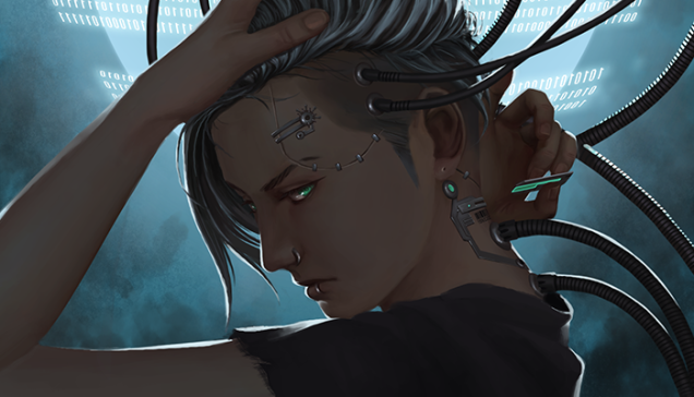 Fantasy Flight Games Announces Android Netrunner Is Ending Cyberpunk Aesthetic Cyborgs Art Cyberpunk Character