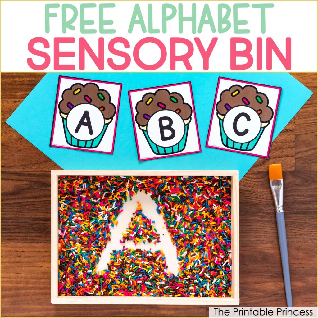 Free Alphabet Sensory Bin In