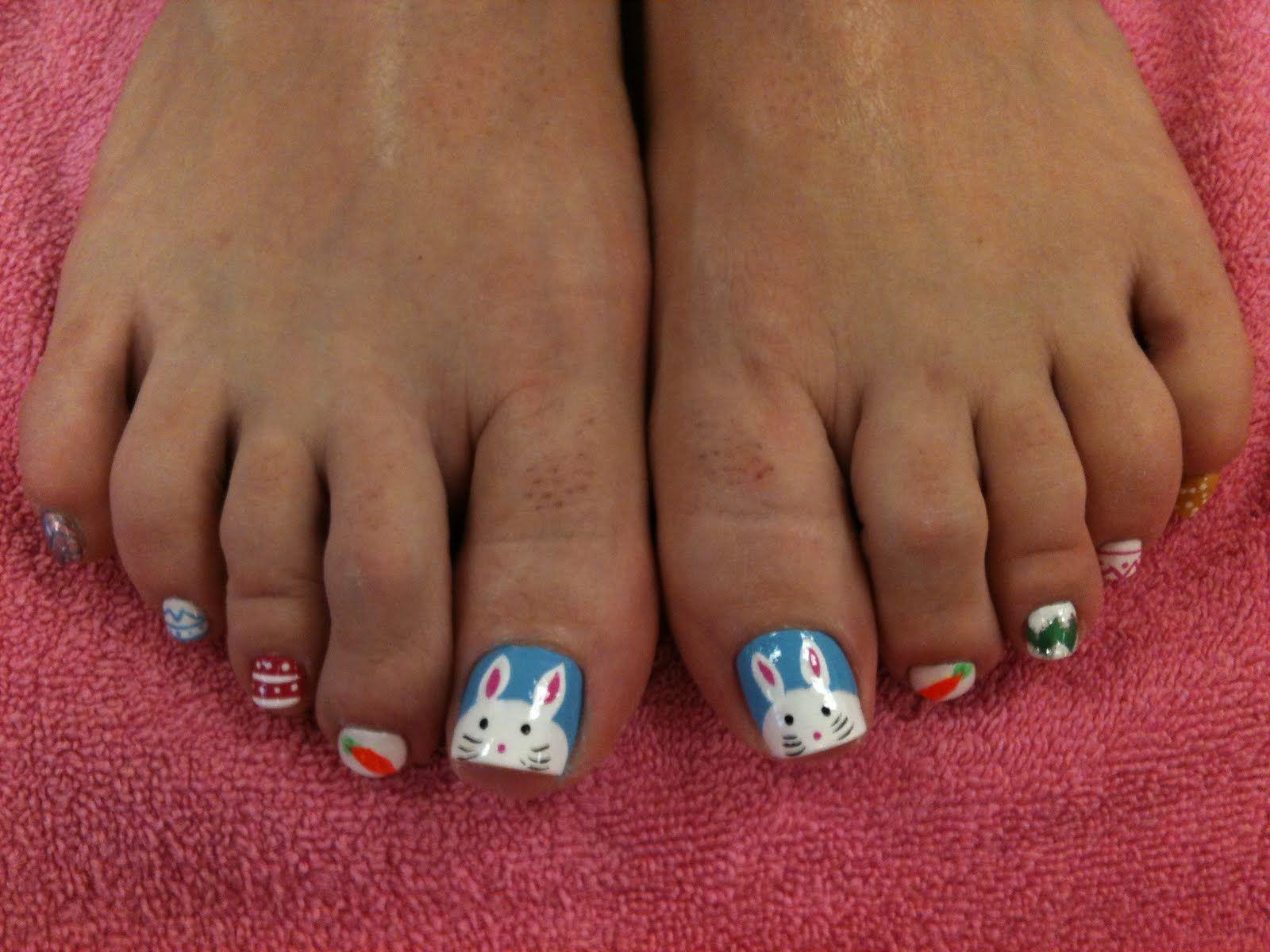 Bunny toe nails | Nails | Pinterest | Make up