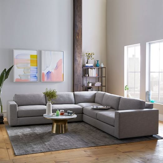 Best Urban 3 Piece L Shaped Sectional Family Room Design 400 x 300