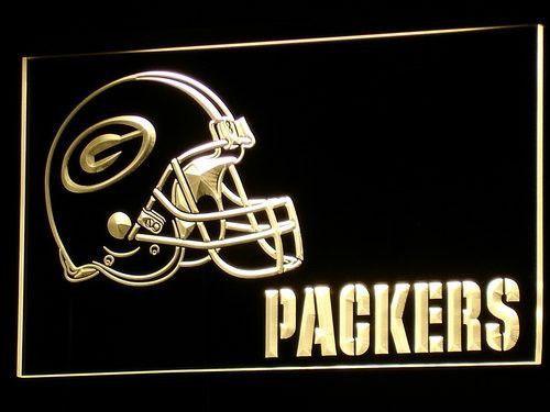 Green Bay Packers Helmet LED Neon Sign