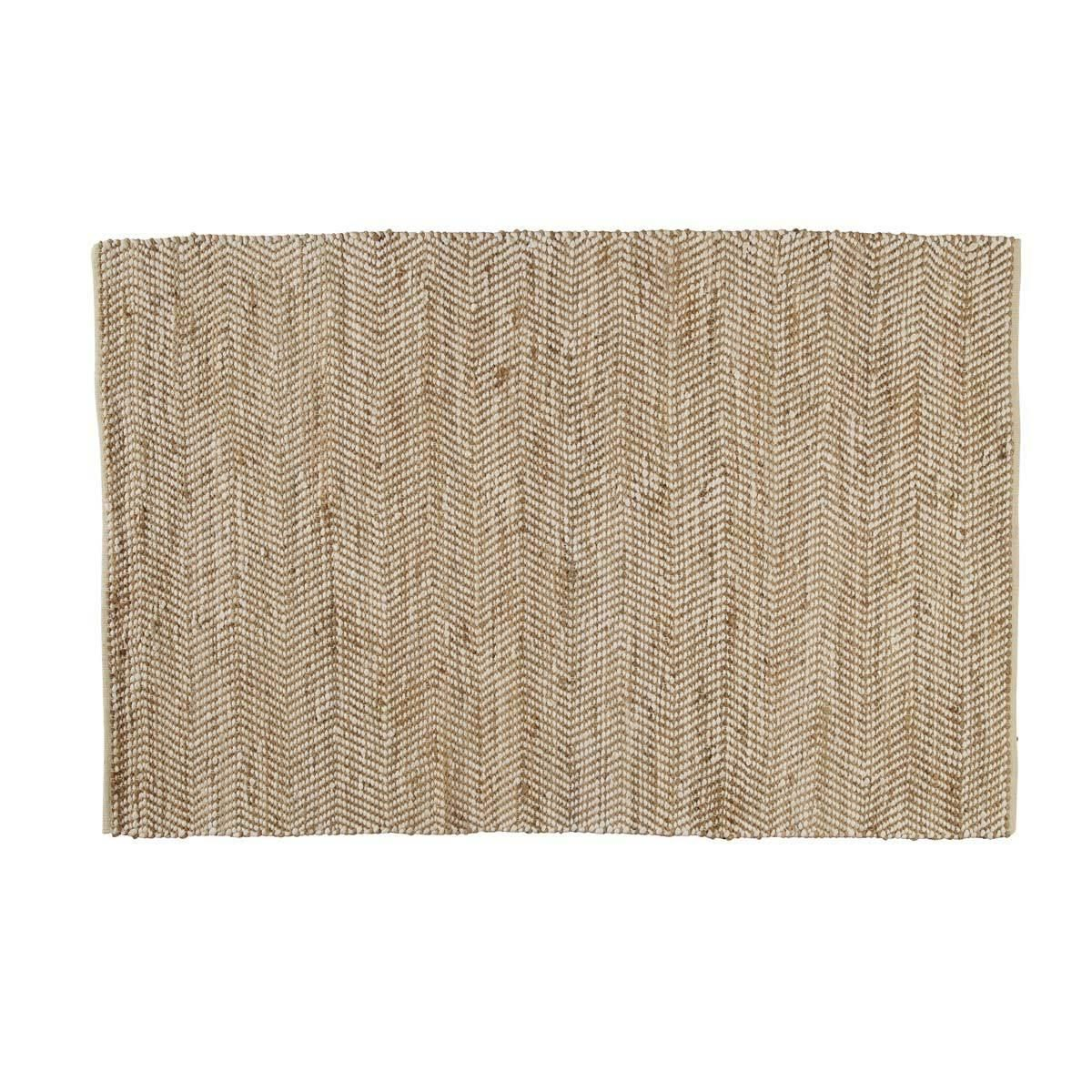 teppich aus baumwolle und jute 140 x 200 cm jute paint. Black Bedroom Furniture Sets. Home Design Ideas