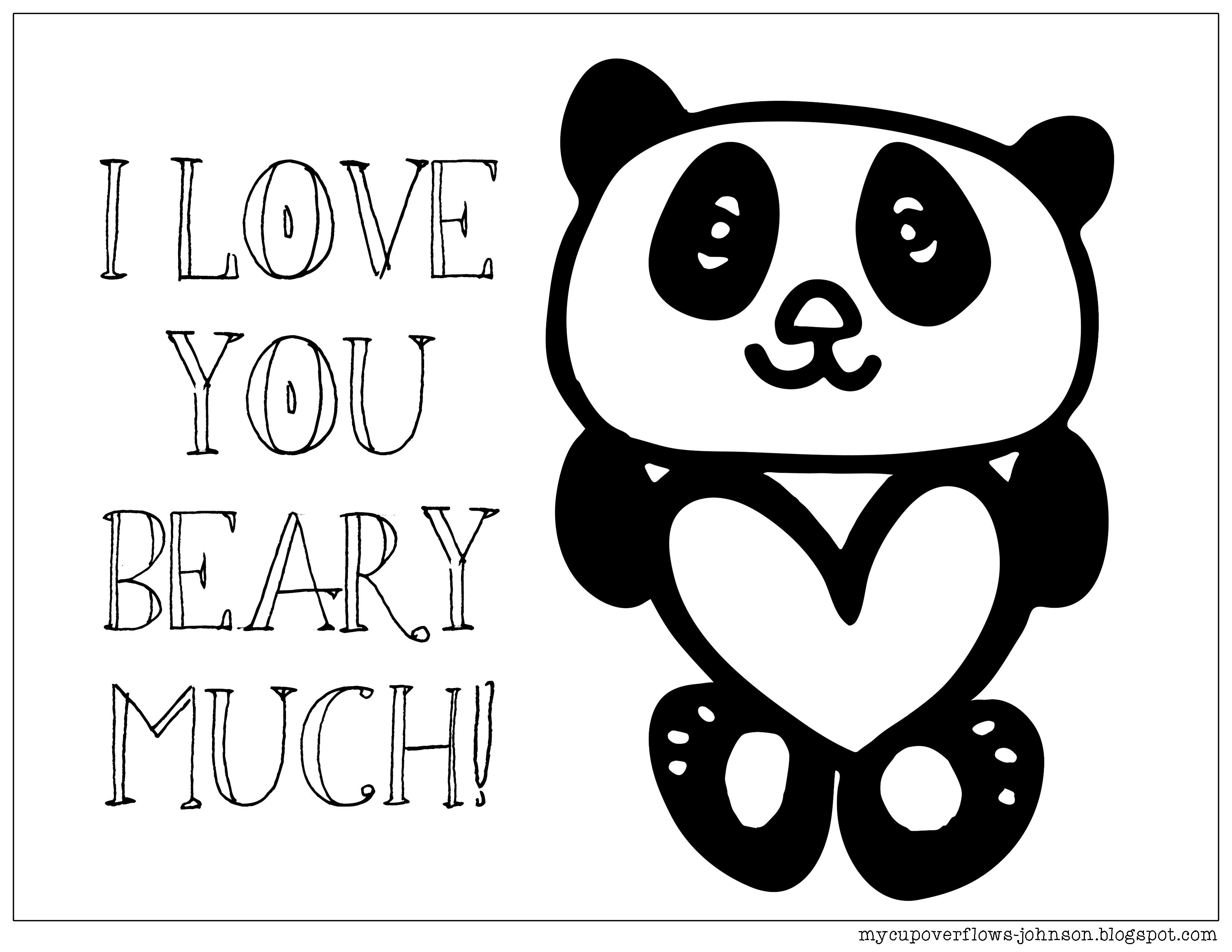 Coloring Pages for Valentine\'s Day | Coloring Pages | Pinterest | Bears