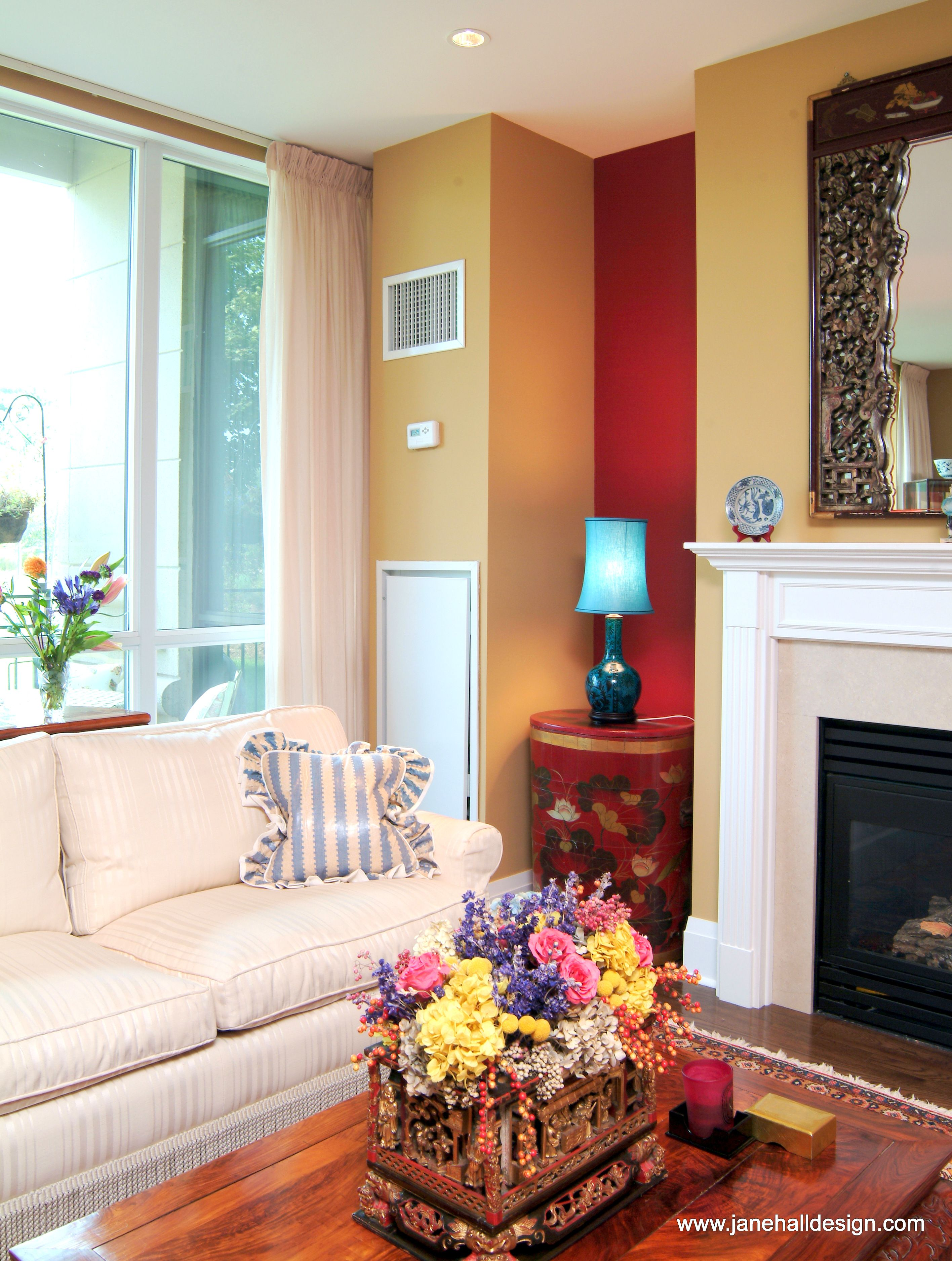 Jane Hall interior design job Color Schemes Blaze Red From Spice