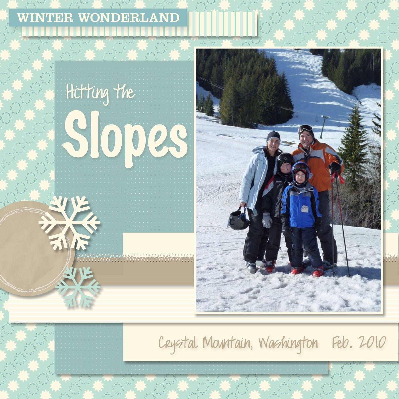 Vietnam scrapbook ideas - Skiing Scrapbook Page Ideas Google Search