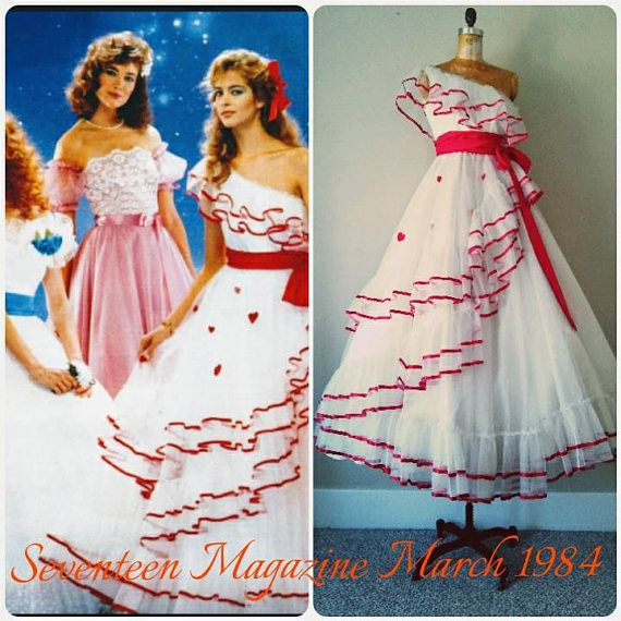 RARE 1980s Heart Prom Gown as seen in Seventeen
