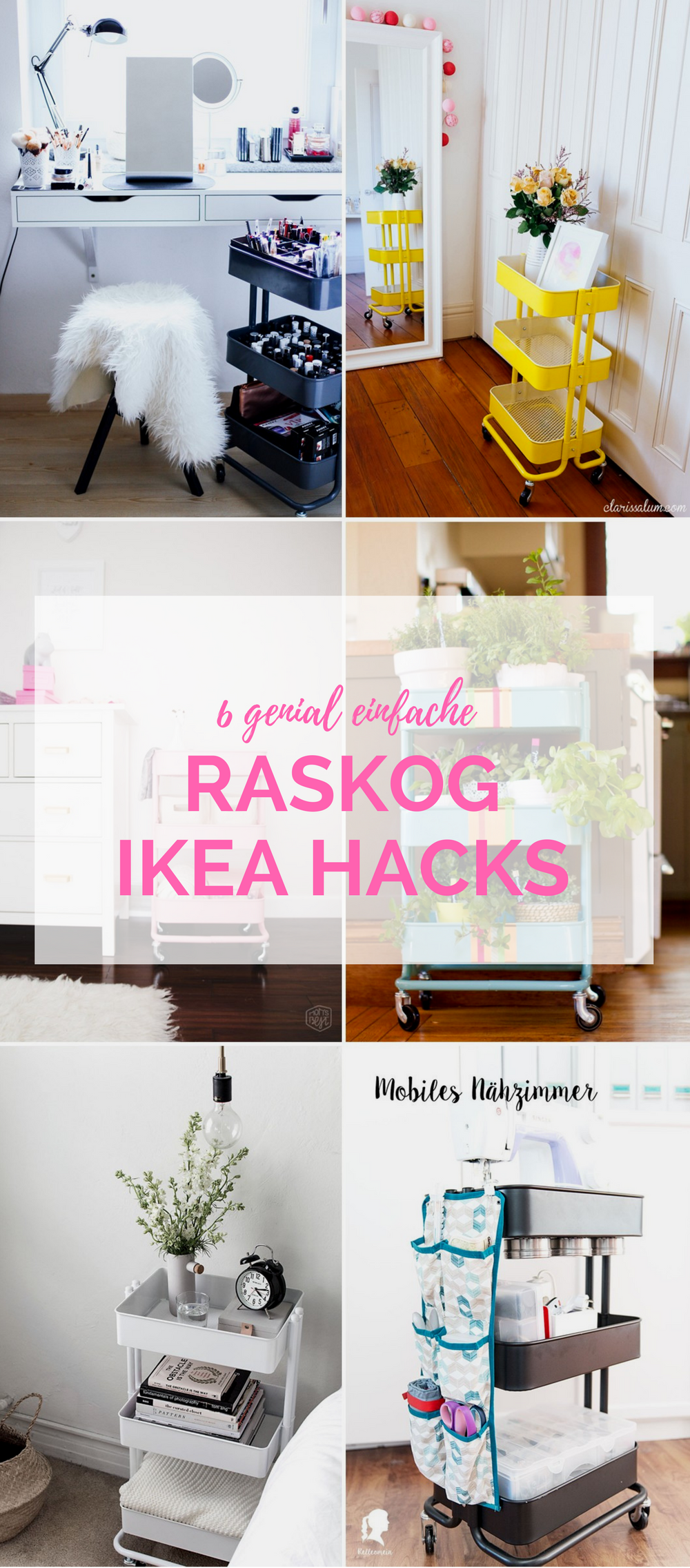 6 IKEA Hacks mit dem RASKOG Servierwagen Ikea hacks