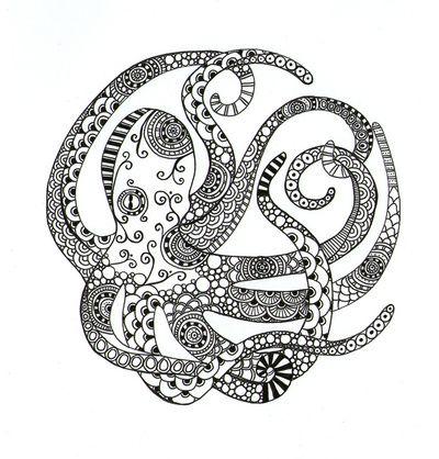 Download zentangle octopus