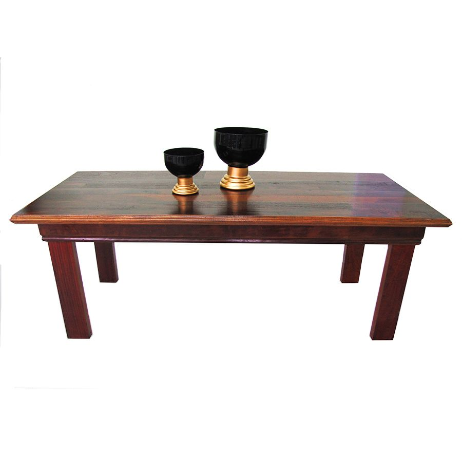MS04 mesa de jantar rústica madeira de demolição peroba rosa