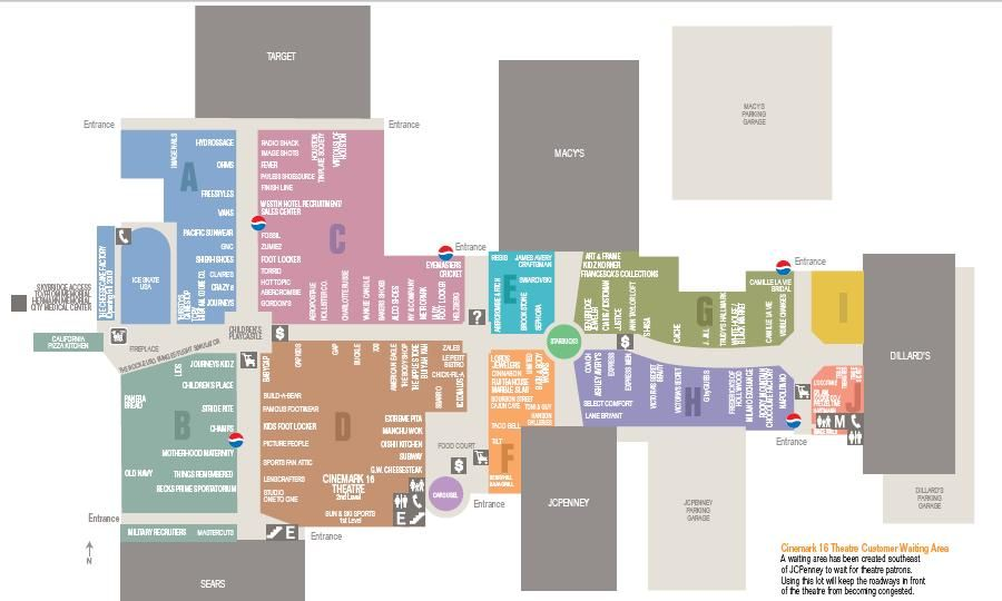 Memorial City Mall Map Shops in the mall of America map | | Vacations in 2019 | Vacation  Memorial City Mall Map