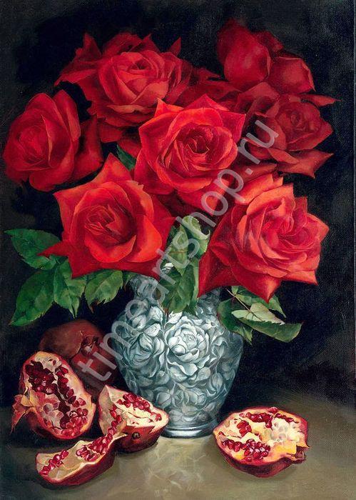 Картина своими руками роза